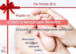 idea regalo - corso di massaggio infantile